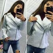 Куртка 213 42-44 44-46 46-48 серебро цвет и черный