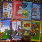 Детские носовые платки платочки мультики Патруль, миньоны, далматинцы, Тачки, Человек-паук, Мишки