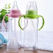 Бутылочка для кормления с силиконовой соской для детской еды бутылка с держателем