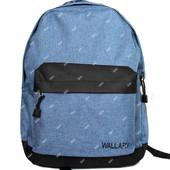 Джинсовый молодежный современный рюкзака (1356 Д)