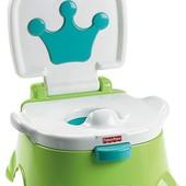 Fisher-Price Горшок музыкальный Королевский трон 3 в 1 зеленый royal stepstool potty, green