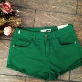 Крутые темно-зеленые джинсовые шорты M-o-t-o  S M