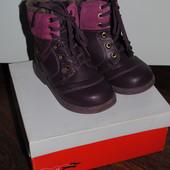 Ботинки зимние кожа,натуральный мех Lipsy 25р.-16 см стелька