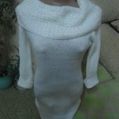 теплое платье туника S - M