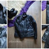 Кожаная байкерская куртка Skintan, мотоэкипировка,р-р С-М