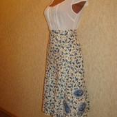 Юбка хлопковая в цветной принт с вышивкой р.12 Marks & Spence