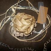 Красивый ремень-цепочка: ткань + металл