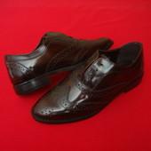 .Туфли броги F and F натур кожа 39 размер