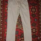 Плотные узкие х/б брюки цвета беж Sutherland  Chino  Англия S.