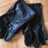 мужские перчатки из натуральной кожи деми.