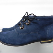 Замшевые демисезонные ботинки 37,38