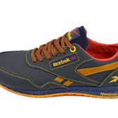 Подростковые кроссовки Reebok  royal classic jogger blue carrot (реплика)