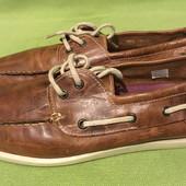 Туфли, мокасины, топсайдеры, River Island, р.43 стелька 29см. натур.кожа. Новые.