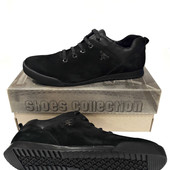 Туфли в стиле Комфорт модель sky чёрный нубук