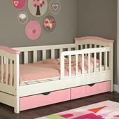 Детская кровать для девочки с бортиками