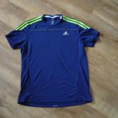 Футболка Adidas response, оригинал, р М, сделана в Камбодже  беговая футболка длина 67, ширина 54, п