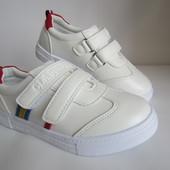 Белые кроссовки реплика 31-34 р