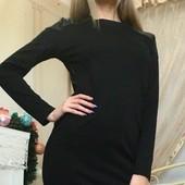 Черное женское короткое платье