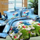 Комплект детского постельного белья Смурфики 2, ранфорс
