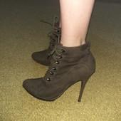Красивые ботильоны ботинки полуботинки