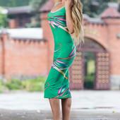 Яркое платье-футляр 635