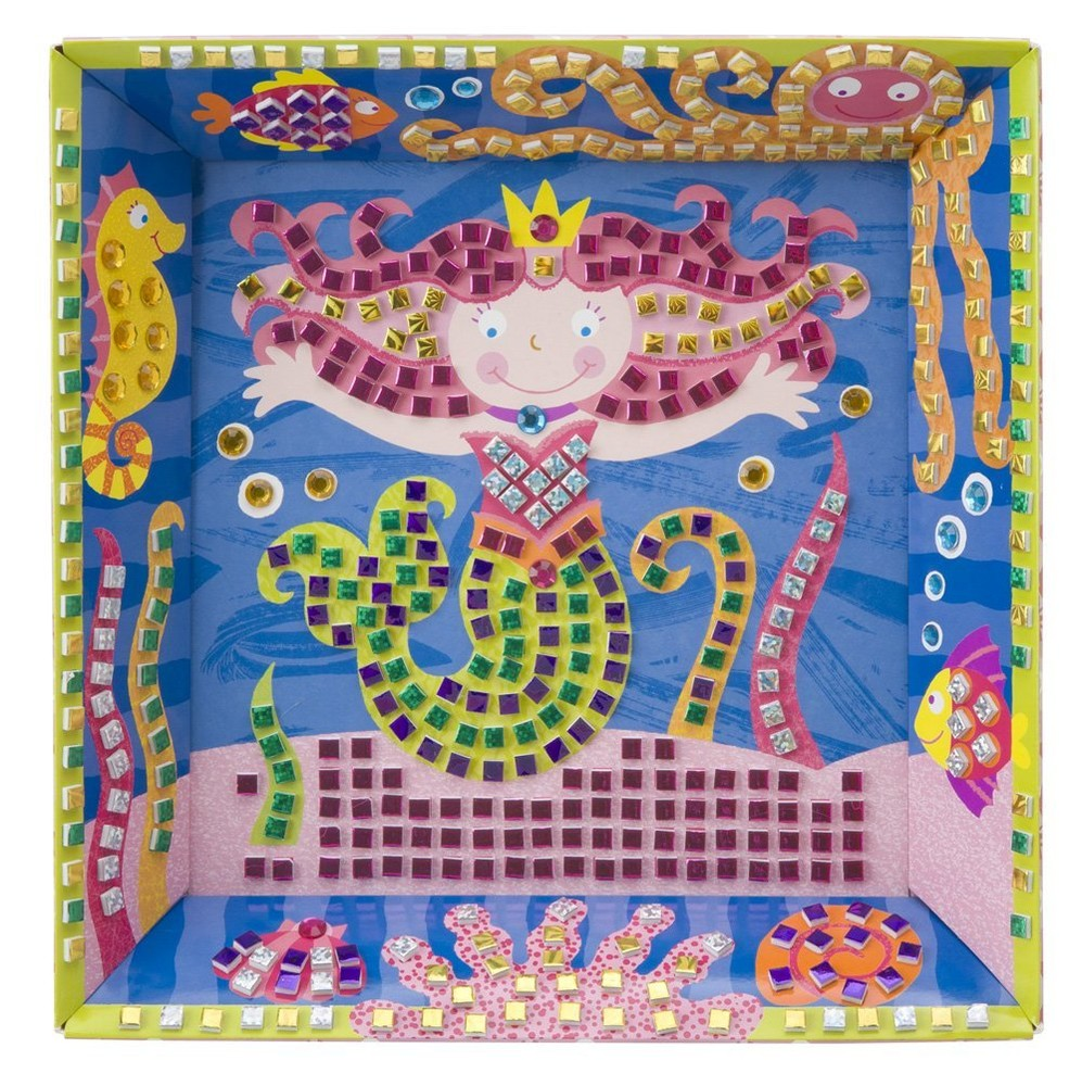 Alex, самоклеющаяся мозаика в рамке русалка фото №1