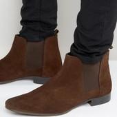 ASOS 100% кожа крутые ботинки 43 р