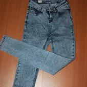 крутые джинсы с высокой посадкой размер 26