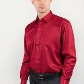 Рубашка атласная бордовая Fra 878-25