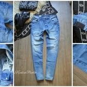 Мужские джинсы ровного кроя в идеале,р-р ХЛ W34 L32
