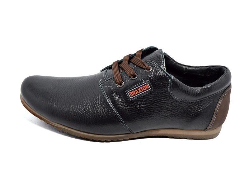 Распродажа!!!Мужские мокасины кожа Braxton kr 377 черные фото №1