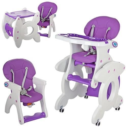 Бемби 3268 стульчик для кормления трансформер Bambi столик 2 в 1 высокий фото №1