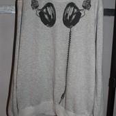 свитшот кофта размер л с наушниками