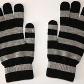 Вязаные женские перчатки разные цвета Tchibo Германия р.6,5-7