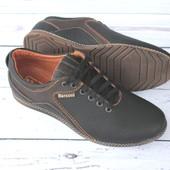 Мужские кожаные туфли-комфорт, 2 цвета