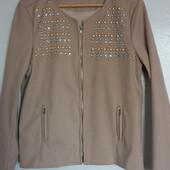 Модный фирменный пиджак куртка бежевый Тренд