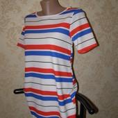 Boohoo стильное летнее платье в полоску S-M-размер