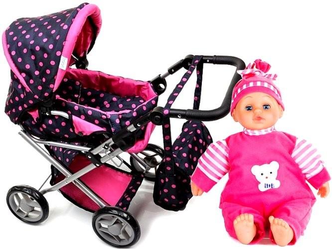 Игрушечная коляска-трансформер doris (польша) + кукла в комплекте! фото №1