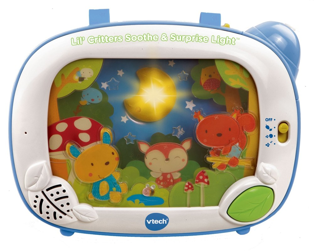 Vtech музыкальный ночник - проектор baby lil' critters soothe & surprise light фото №1