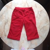 Красные вельветовые штаны на девочку фирмы TU возраст 2-3 года