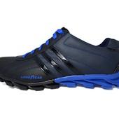 Мужские кроссовки Adidas Good Year Blue-Black (реплика)
