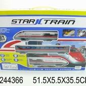 Игрушка железная дорога на батарейках. Размер в коробке 51,5*5,5*35,5см