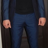 Модный костюм Next slim fit Некст на выпускной свадьбу торжество, отл. сост.