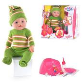 Кукла Baby born с аксессуарами, пупс в зеленом костюме, магнитная пустышка