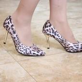 Туфли лодочки леопард Т331