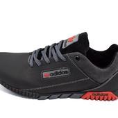 Кроссовки мужские Adidas 39  черно-серые (реплика)