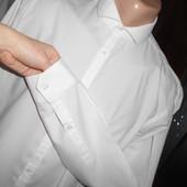 Рубашка слим белая с длинным рукавом.