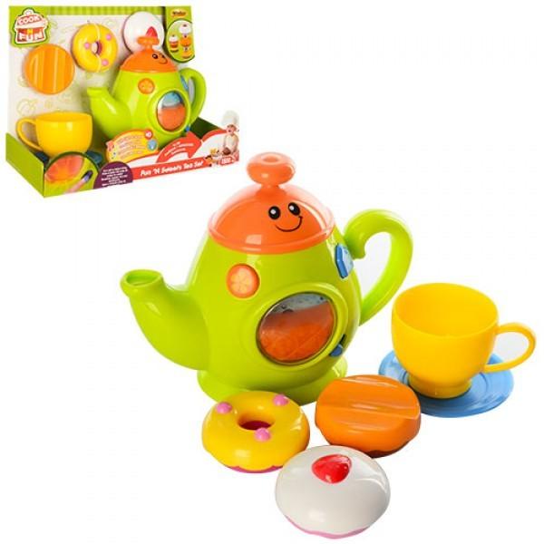 набір ігровий 0754-nl чайний сервіз, чайник, регул. гучність, продукти, муз., світло, бат., кор., 2 фото №1