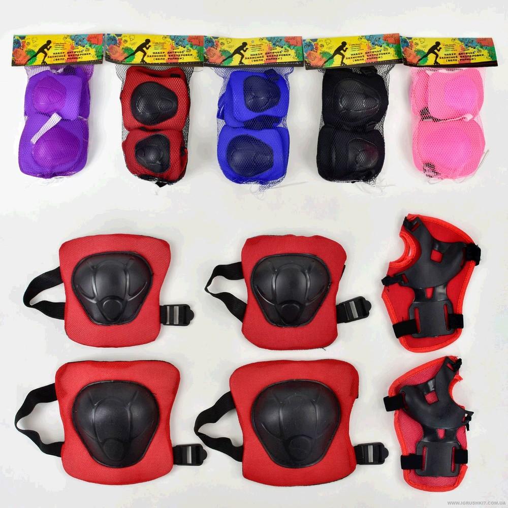 Защита для роликов для коленей и локтей,в кульке  размер: 19-21-3,5см  цвет:  - голубой  - розовый фото №1