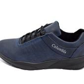 Кроссовки мужские Columbia 811 синие (реплика)